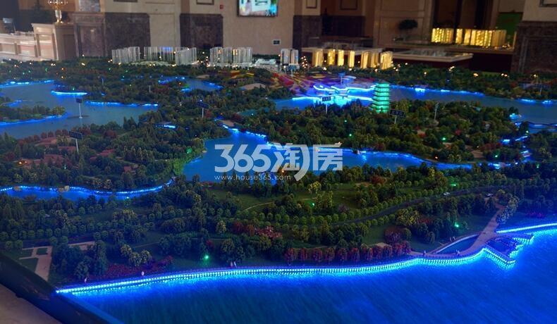 世园大公馆项目规划夜景实景图(2018.2.2)