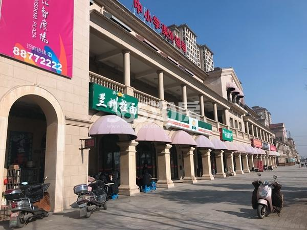 长泰国际社区沿街商铺实景图(2017.12 摄)