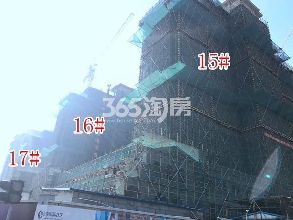 长泰国际社区高层15-17#楼实景图(2017.12 摄)