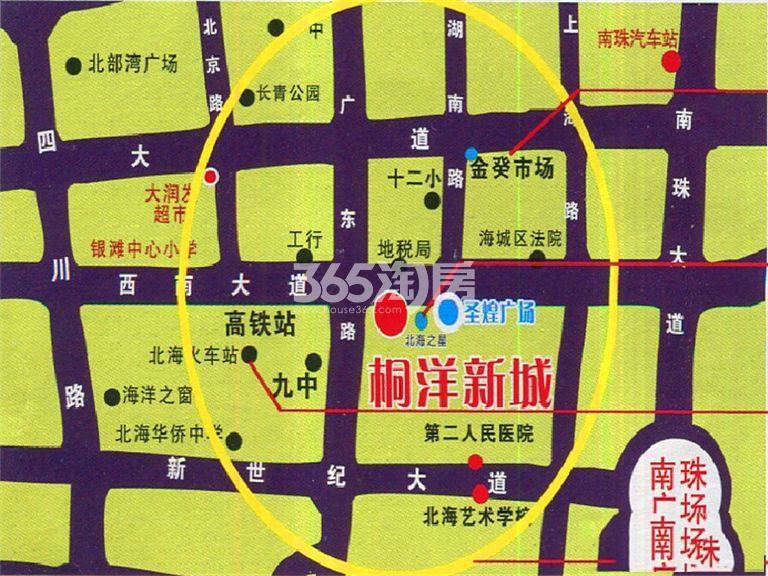 桐洋新城交通图