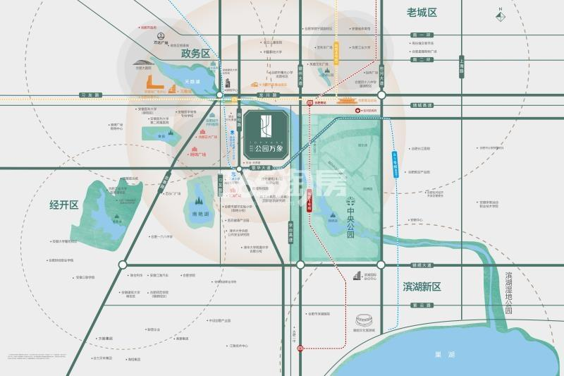 公园万象交通图