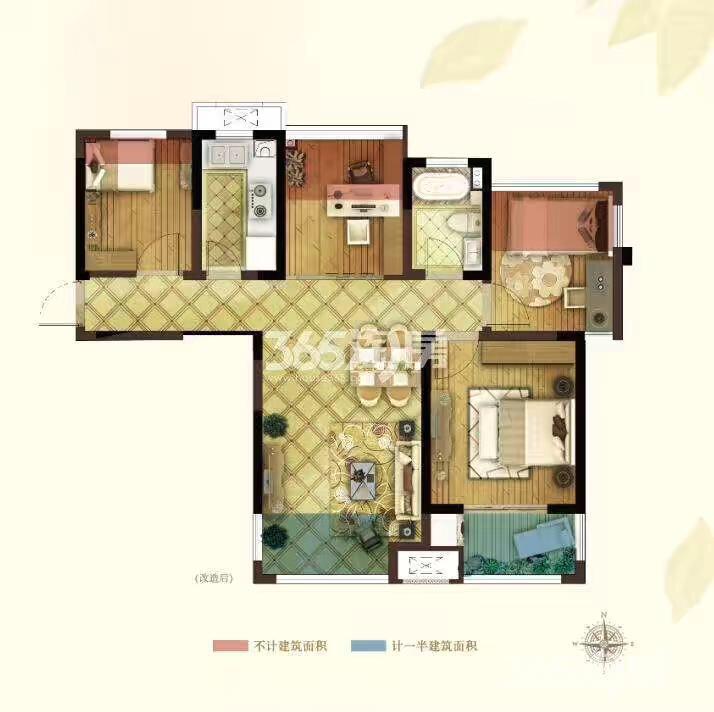 弘阳春上西江4房89平米,实得面积110,开发商超多面积赠送