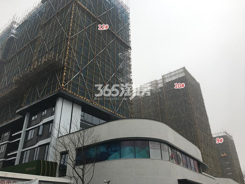 阳光城未来悦项目9、10、12号楼施工进程(2018.2)
