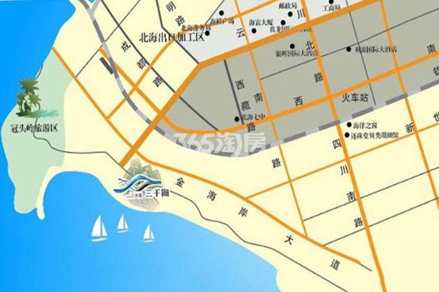 天隆三千海交通图