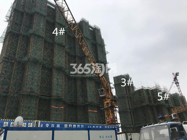 电建中储泛悦城市广场4、3、5#进展图(4.4)