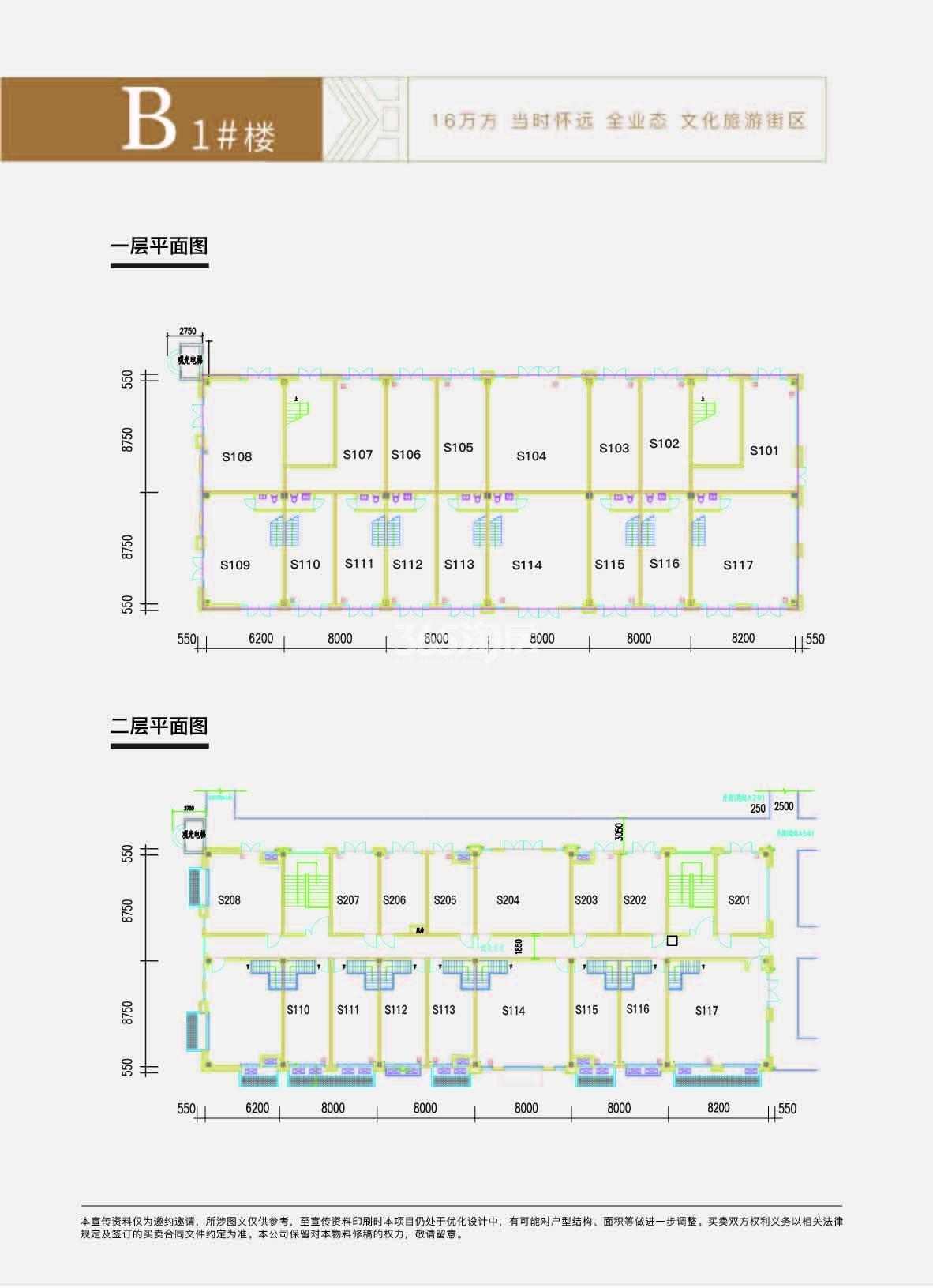 大禹九州里 B1#楼商铺楼整栋户型