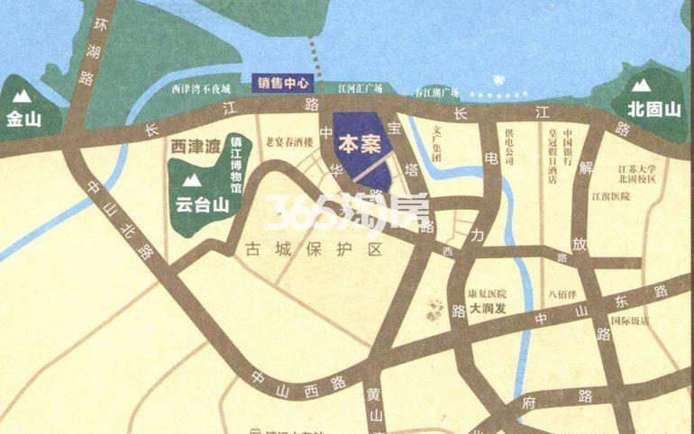 江河汇交通图