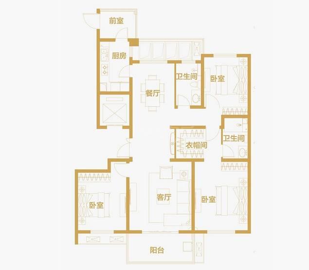 户型:3室2厅 面积:140�O