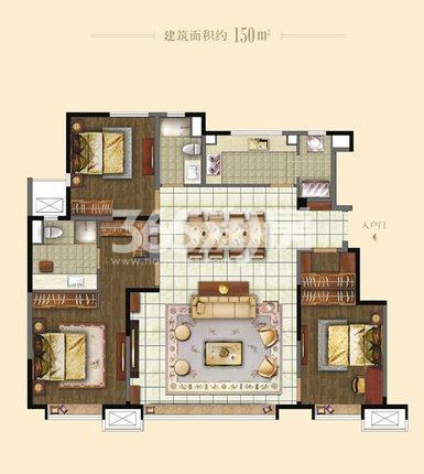 洋房150㎡ 3室2厅2卫