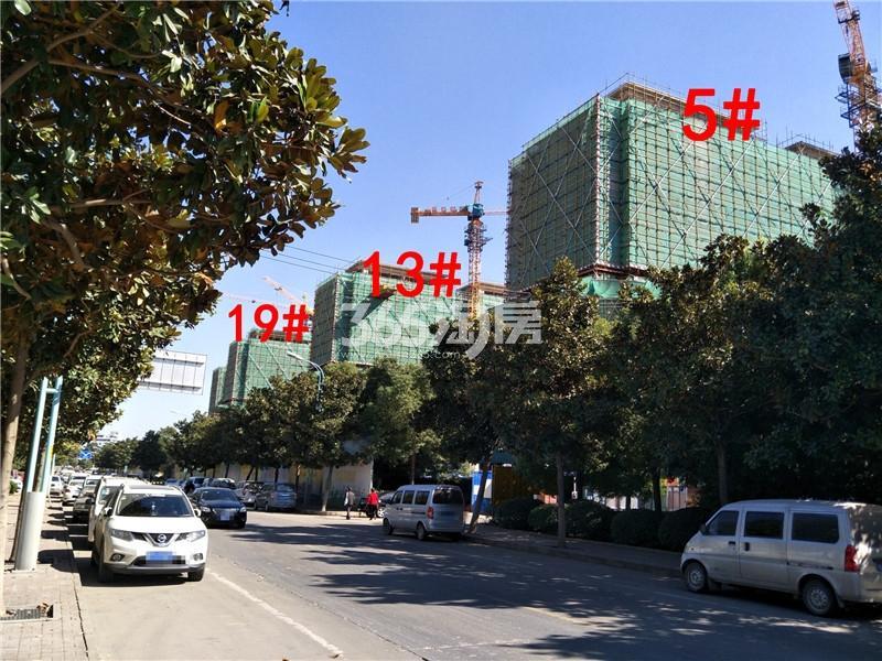 中梁首府5、13、19#楼在建实景图(10.19)