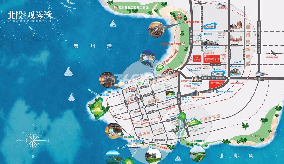 北投观海湾交通图