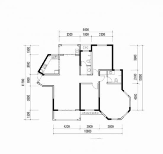 新密国际家居建材城3室2厅1卫106平米毛坯产权房2017年