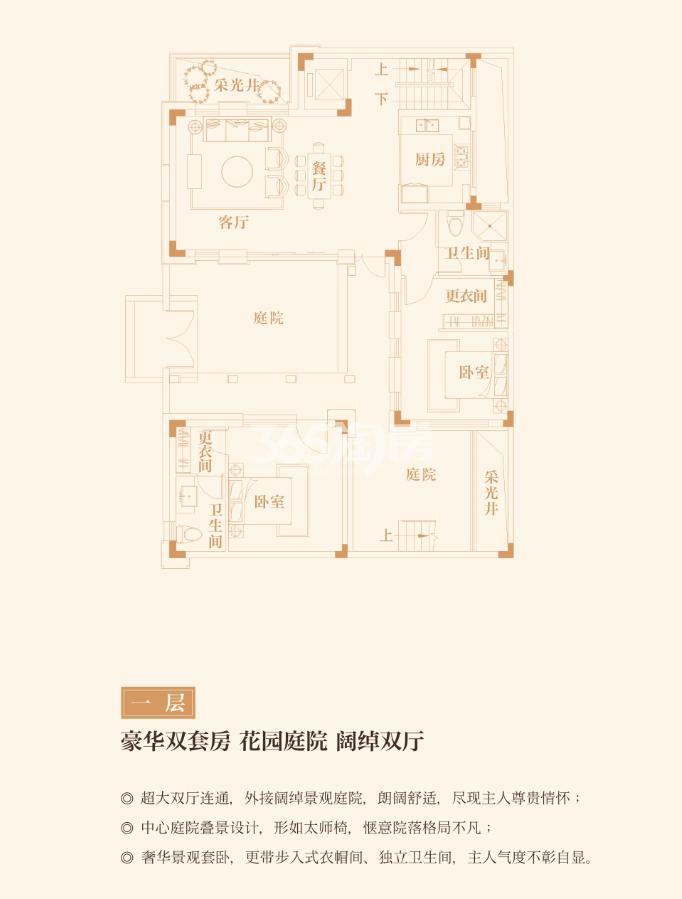 中国院子万振紫蓬湾一层户型