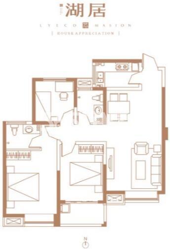 万景荔知湾二期3室2厅2卫1厨107㎡