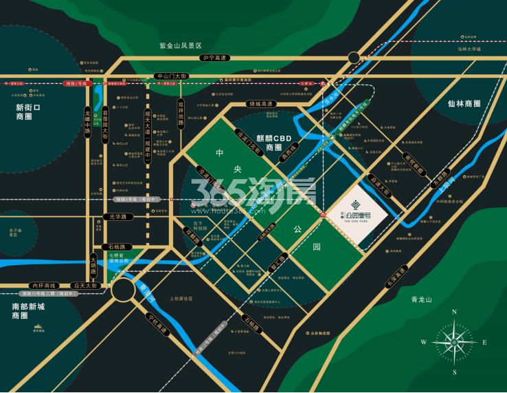沣麟公园壹号交通图