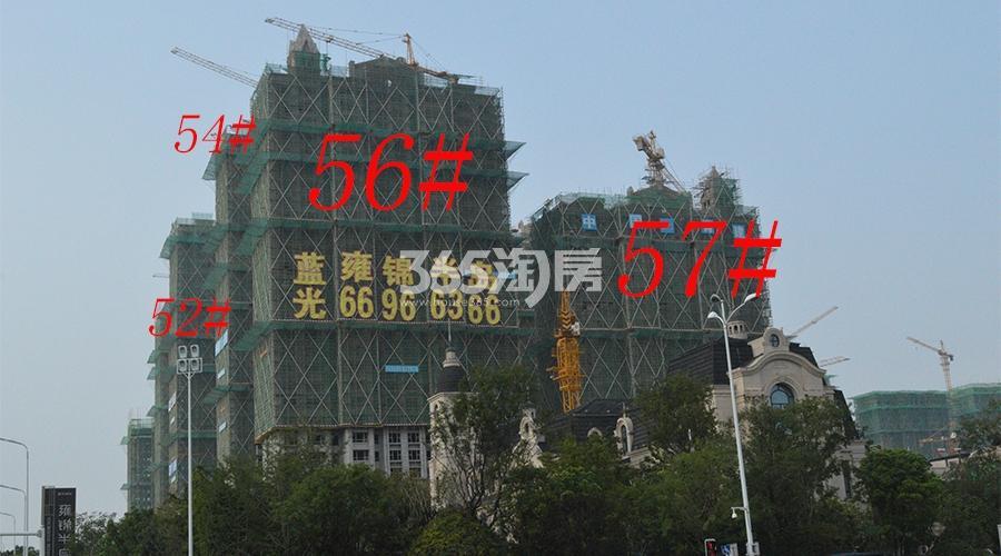 蓝光雍锦半岛项目工程进度实景图(12.27)