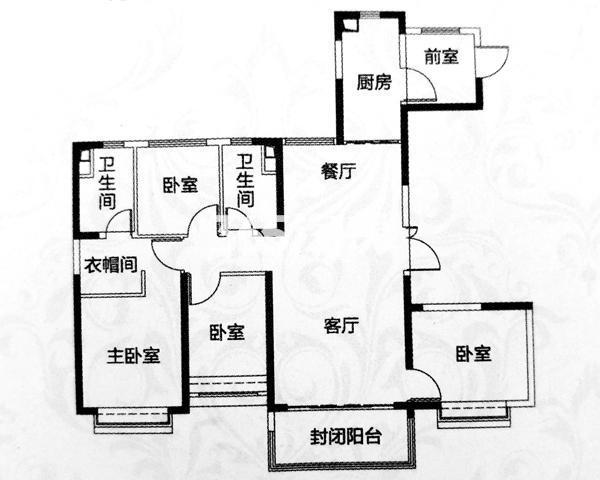 四室两厅两卫 建筑面积约152.27㎡