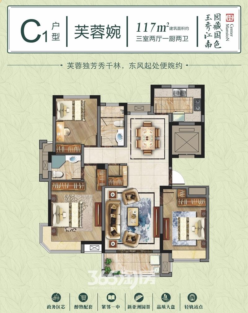 三潭音悦玉园C1户型图