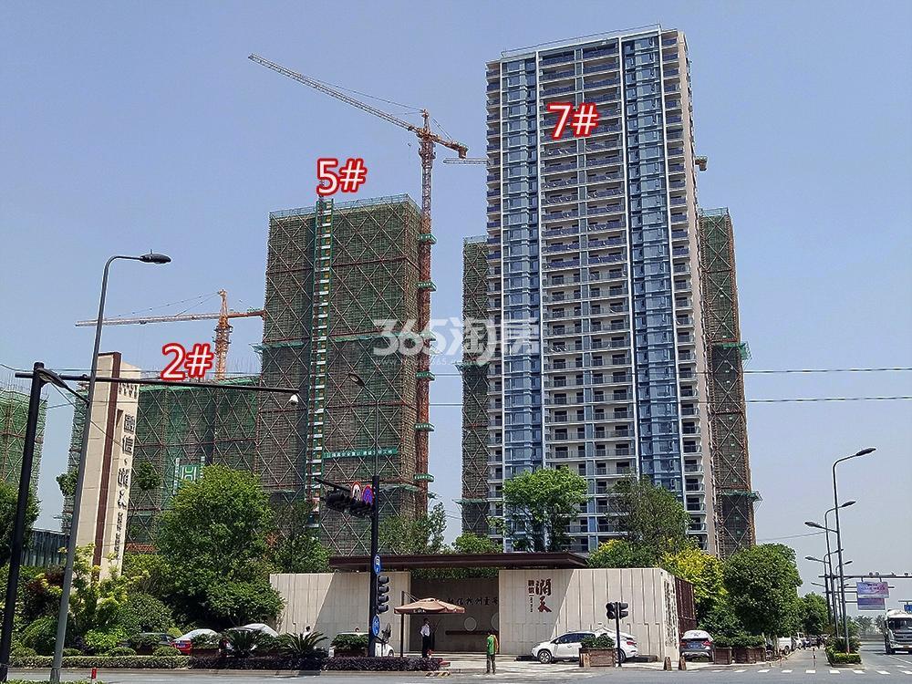 2018年5月融信澜天高层2、5、7号楼实景