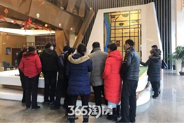 翰林公馆新春看房实景图(2018.2摄)