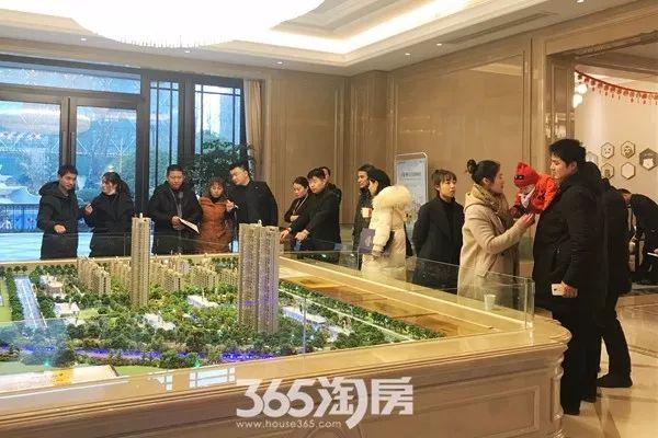 融创玉兰公馆新春看房实景图(2018.2摄)