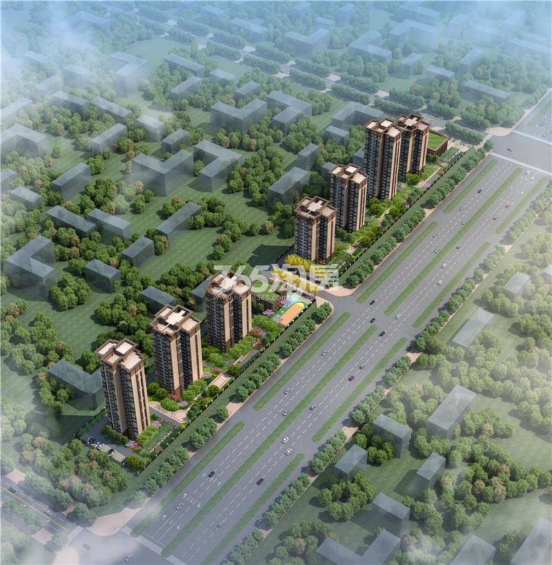华地东城鸟瞰效果图