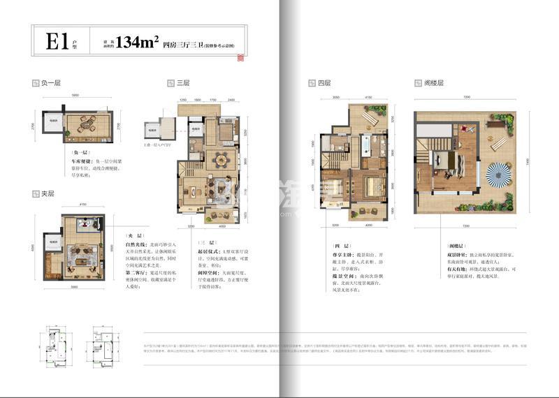 远洋雁归里E1户型134方(2-7#)