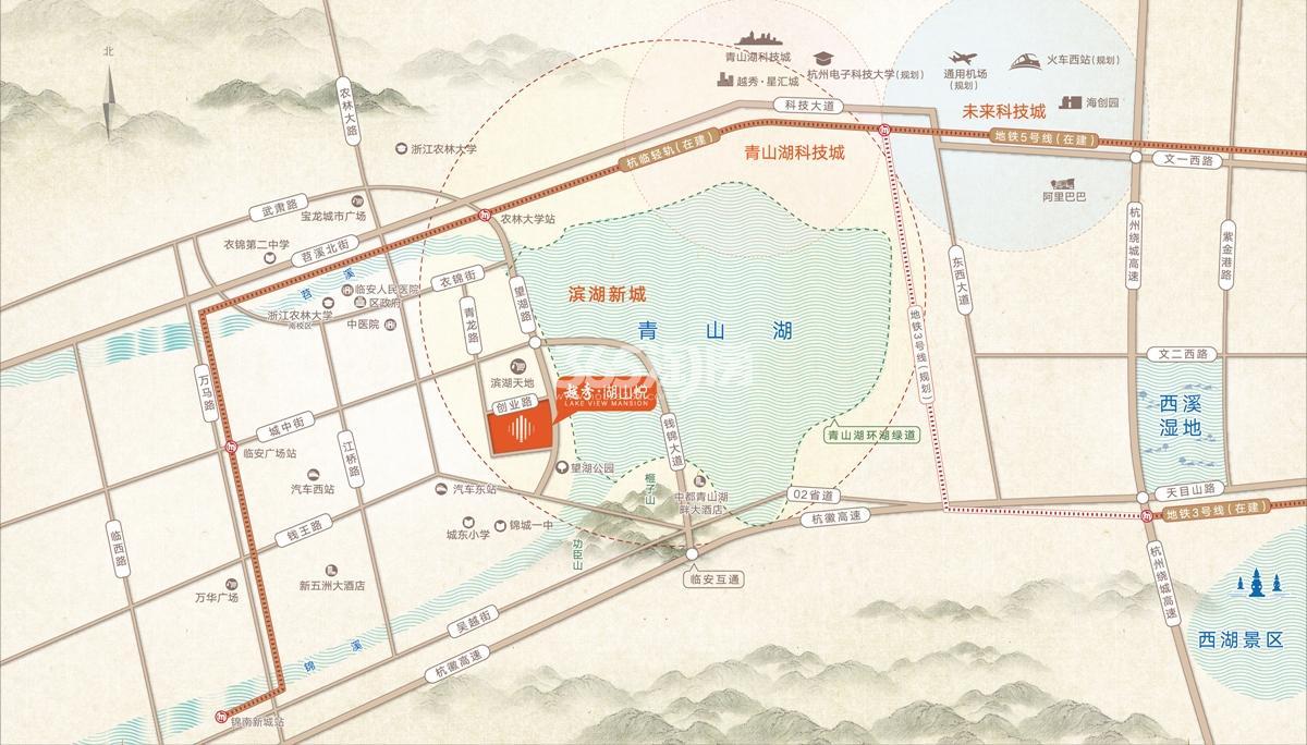 越秀湖山悦交通图