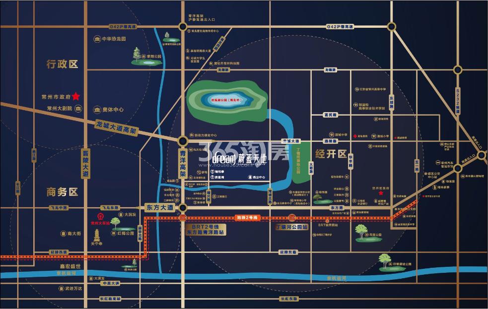 嘉宏蔚蓝天地交通图