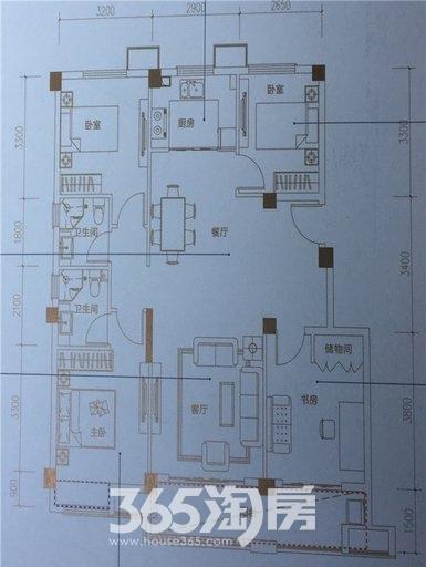 新滨湖孔雀城洋房B2户型