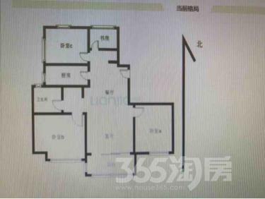 新城保利天地3室2厅1卫88平米整租精装