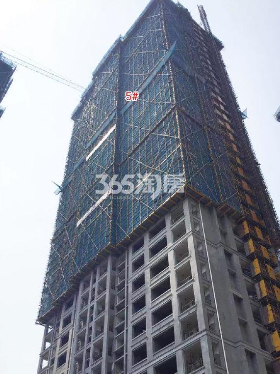 中国铁建西湖国际城5号楼施工进程(2018.8)