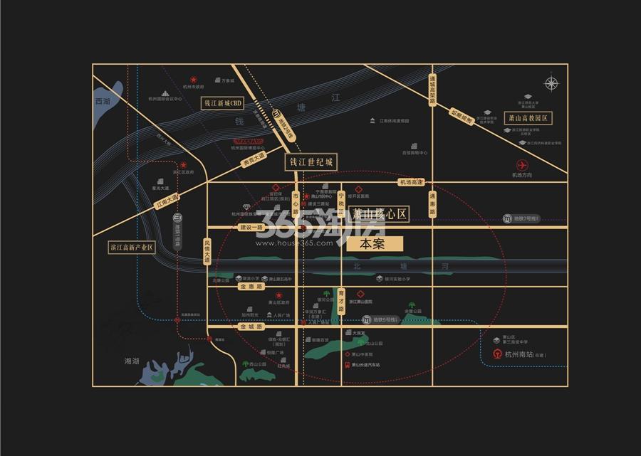 中旅名门府交通图