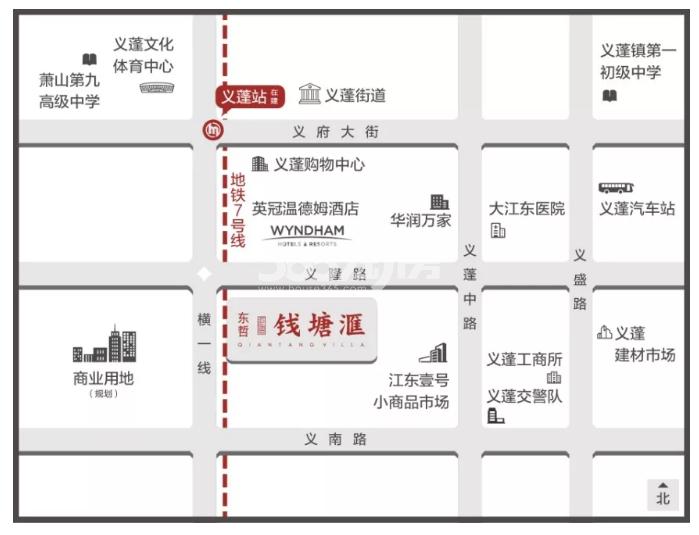 东哲钱塘滙交通图