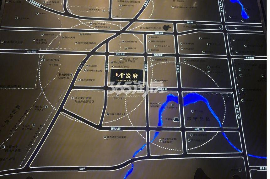 长安金茂府交通图