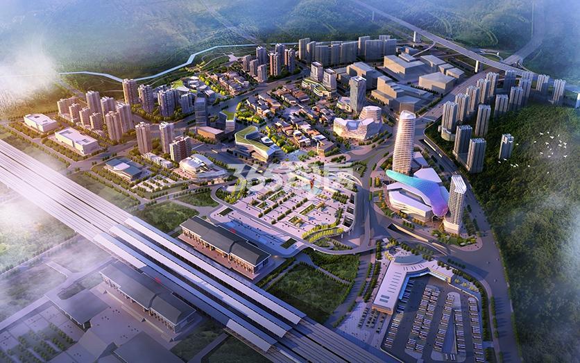 高铁新城·皓玥Ⅱ区鸟瞰图