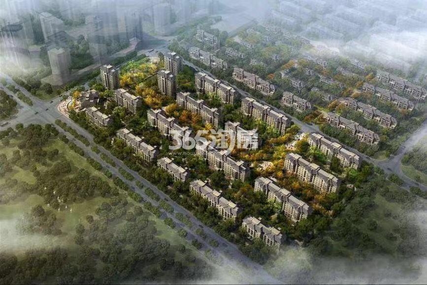 河畔新城鸟瞰图