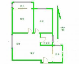 庄桥地铁口 金福北苑 精装2房 中间楼层 东亭实验学 区诚售