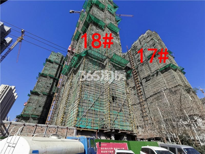 城置万锦城项目工地17、18#楼实景图(3.27)