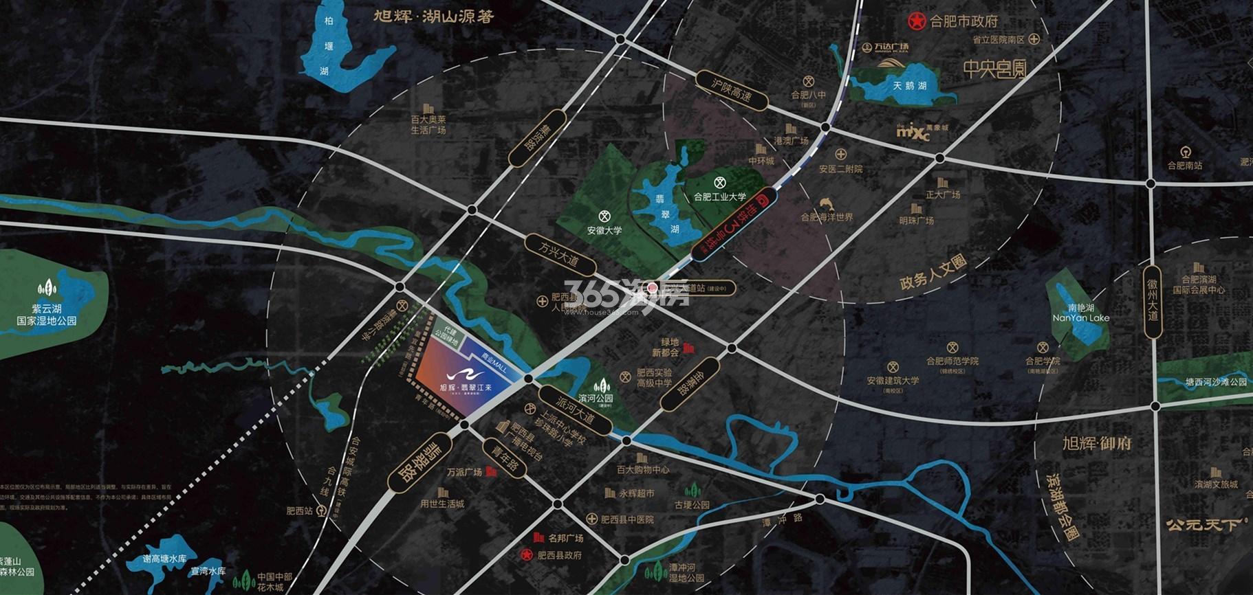 旭辉翡翠江来交通图