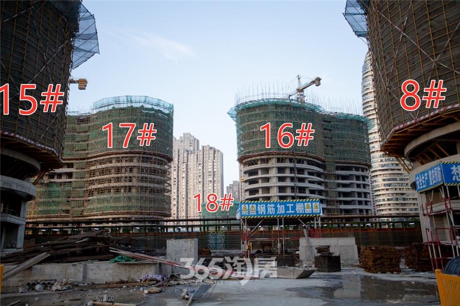 伟星长江之歌二期天誉8#、15#、16#、17#、18#工程进度(2019.11摄)