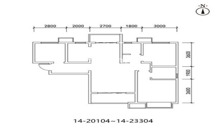 三迪枫丹10/14号楼3室2厅1卫1厨115.02㎡