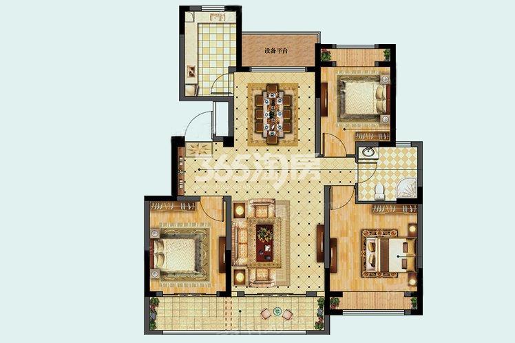 B户型居室108.00㎡