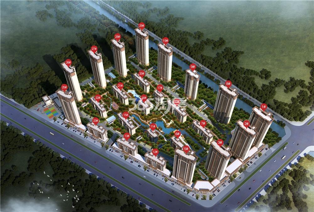 获嘉建业城鸟瞰图