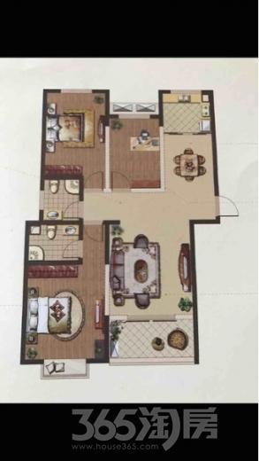 格林美郡3室2厅2卫115平米毛坯产权房2013年建