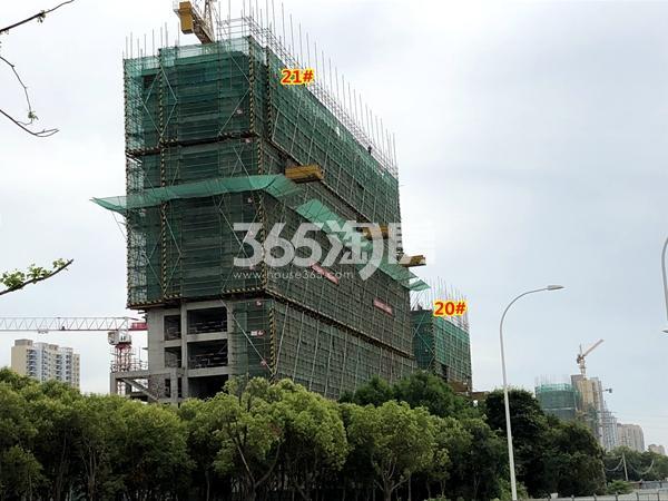绿地天空树20#、21#楼工程进度实景(2018.7摄)