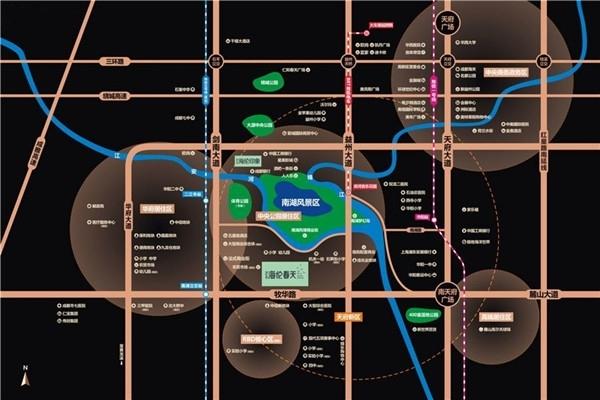 海伦春天交通图