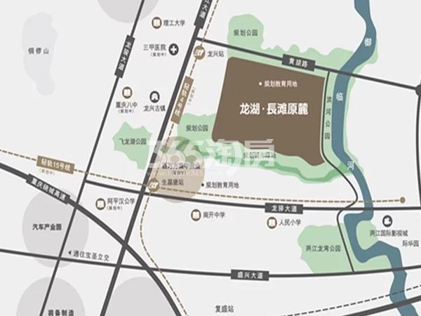 龙湖長滩原麓交通图