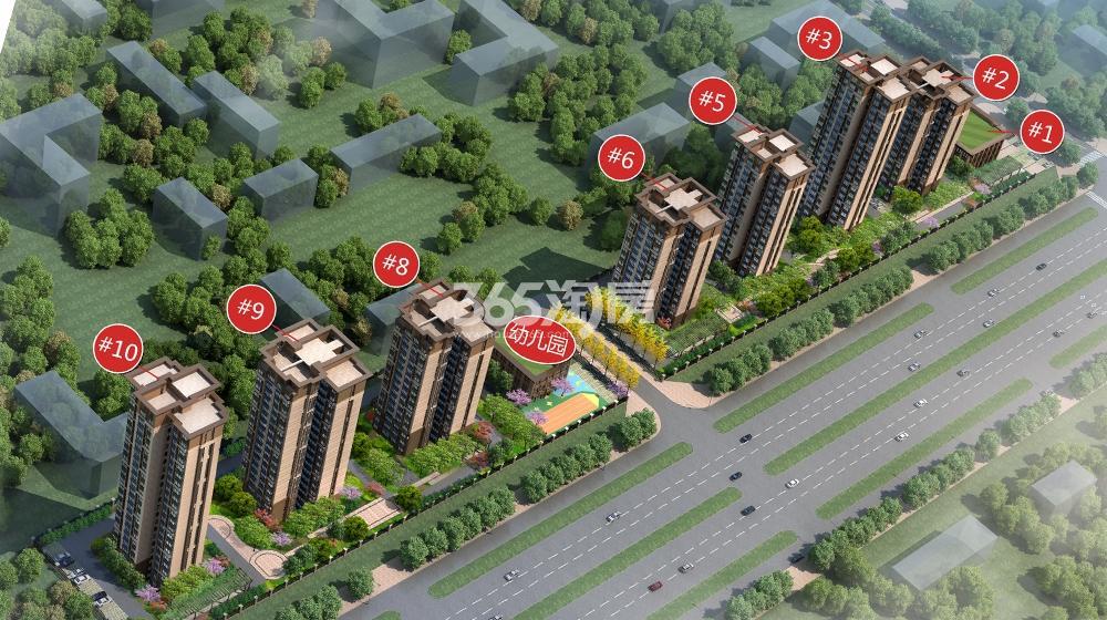 华地东城鸟瞰图