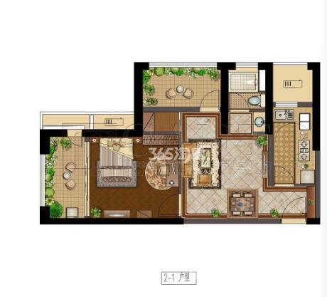 恒盛金陵湾2室1厅1卫68平米2018年产权房毛坯